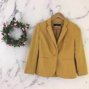 The Limited Mustard Yellow Blazer Jacket